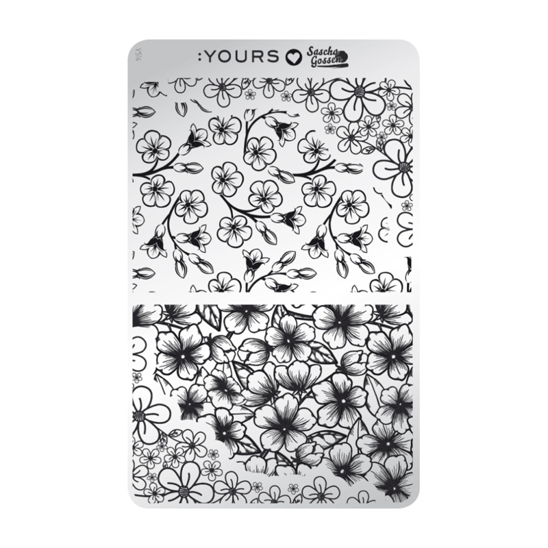 Yours Cosmetics - Stamping Plates - :YOURS Loves Sascha - YLS14. Flower Power