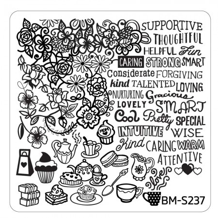 Bundle Monster - Mother's Day Nail Stamping Plate - Occasion Collection, Motherly Attributes