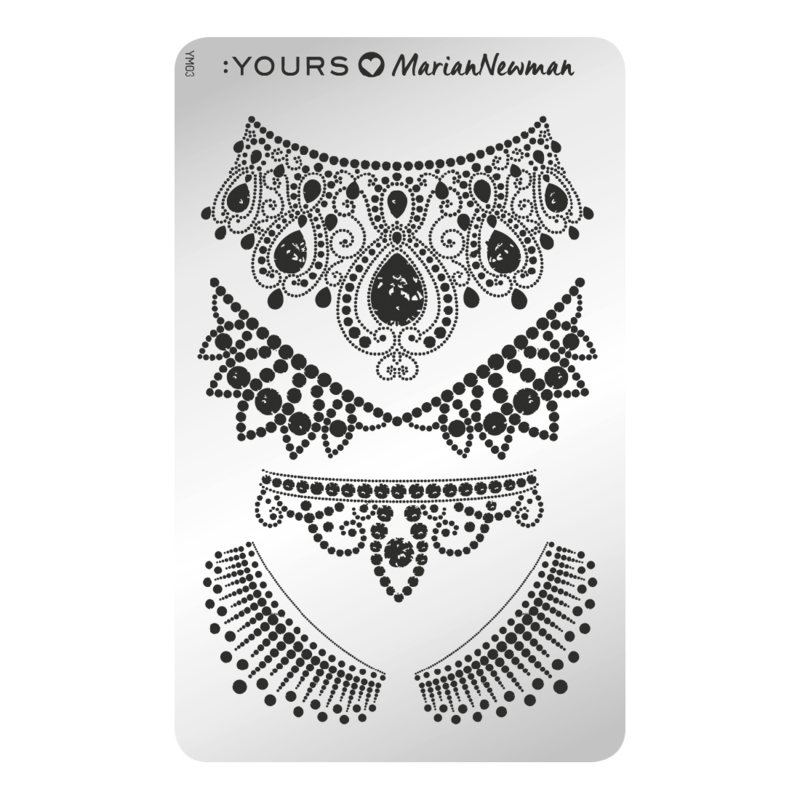 Yours Cosmetics - Stamping Plates - :YOURS Loves Marian Newman - YLM03. Royal