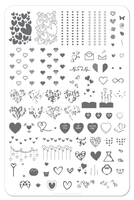 Clear Jelly Stamper - Big Stamping Plate - CJS_V05 - Show the Love