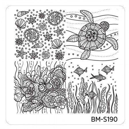 Bundle Monster - Mystic Woods Nail Stamp Plate - Mashup of Nature