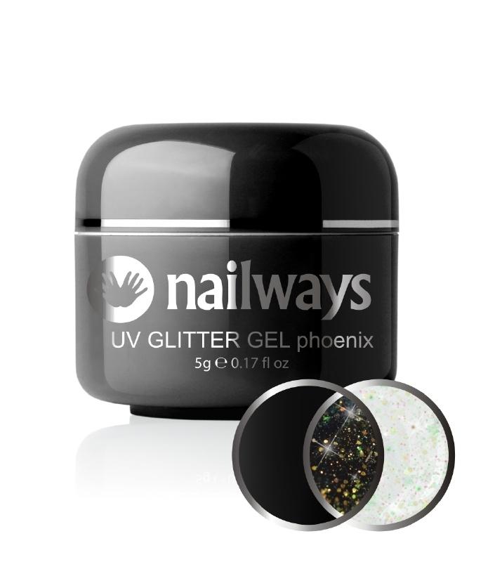 Nailways - NWUVGL03 - UV GLITTER GEL - Phoenix