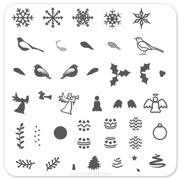 Clear Jelly Stamper - Stamping Plate - CJS_C09 - Angelic Christmas Wonderland