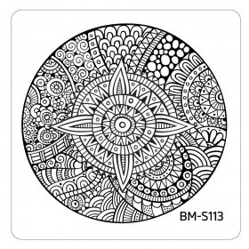 Bundle Monster - Paisley Flow Nail Art Manicure Stamping Plate - Kaleidoscope Medallion