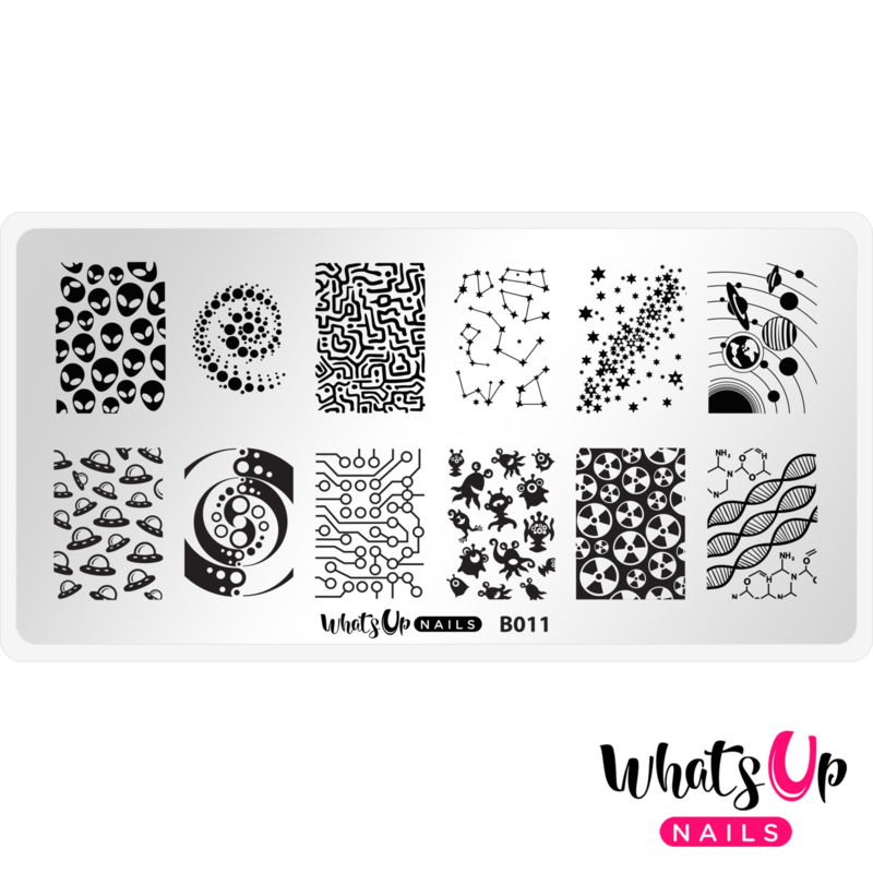 Whats Up Nails - Stamping Plate - B011 Intergalactic Encounters