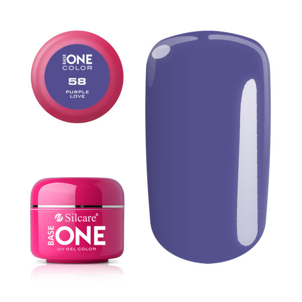 Base One - UV COLOR GEL - 58. Purple Love