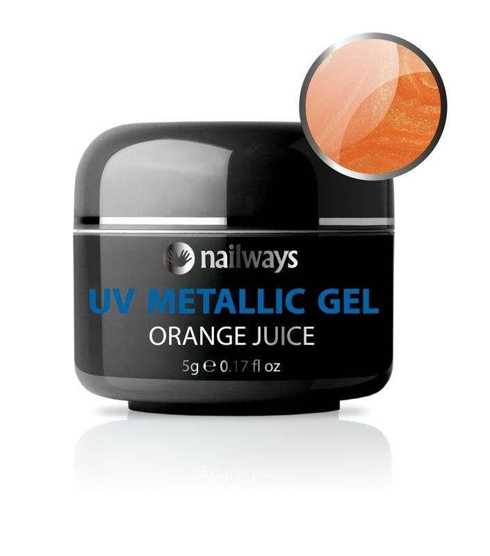 UV METALLIC GEL - Orange Juice