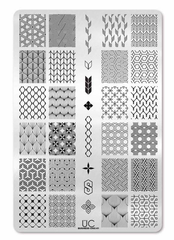 UberChic  - Big Nail Stamping Plate - Business Chic-01
