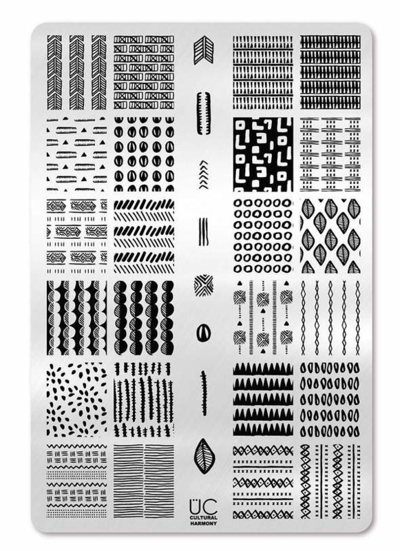 UberChic - Big Nail Stamping Plate - Cultural Harmony