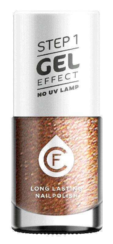 CF Gel Effekt Nagellak - Step 1 - 110. Metallic Brown