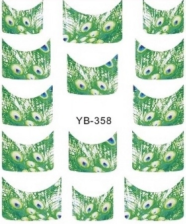 Waterdecals - French Peacock