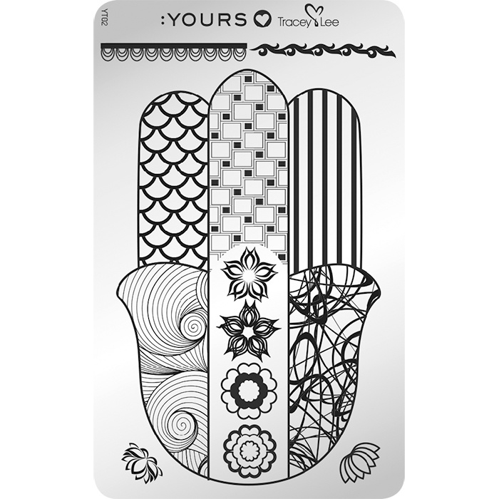 Yours Cosmetics - Stamping Plates - :YOURS Loves Tracy Lee - YLT02. In Good Hands