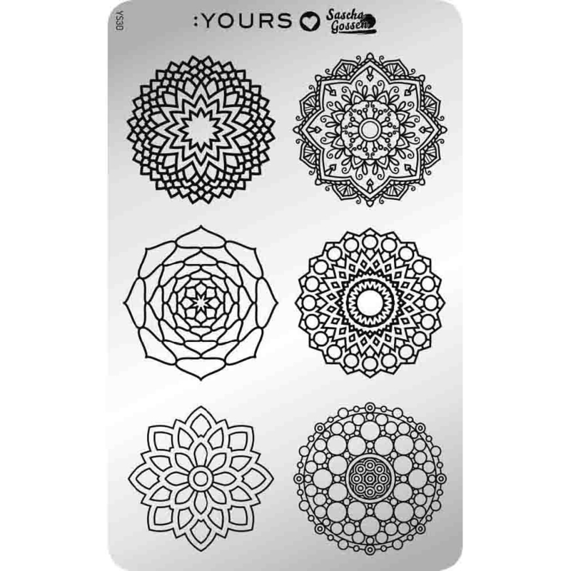 Yours Cosmetics - Stamping Plates - :YOURS Loves Sascha - YLS30. Mandala Mania