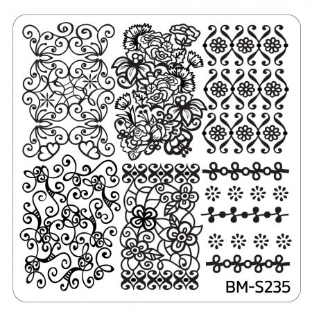 Bundle Monster - Bridal Nail Stamping Plate - Occasion Collection, Floral Elegance