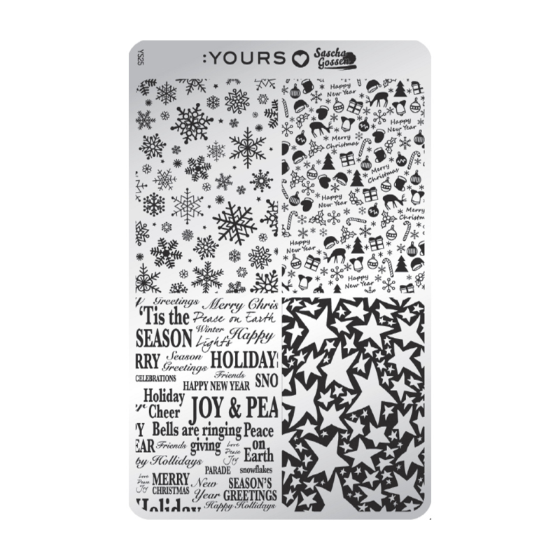 Yours Cosmetics - Stamping Plates - :YOURS Loves Sascha - YLS25. Decorations