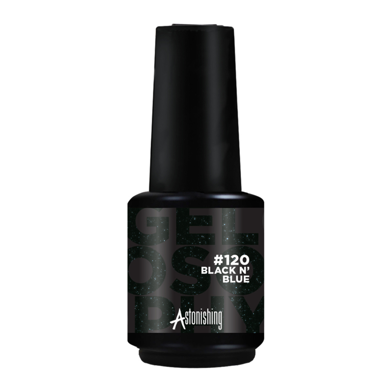 Gelosophy - Soak Off Polish - #120. Black N'Blue