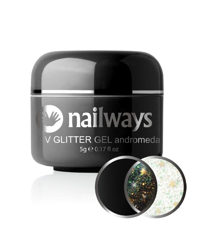 Nailways - NWUVGL01 - UV GLITTER GEL - Andromeda