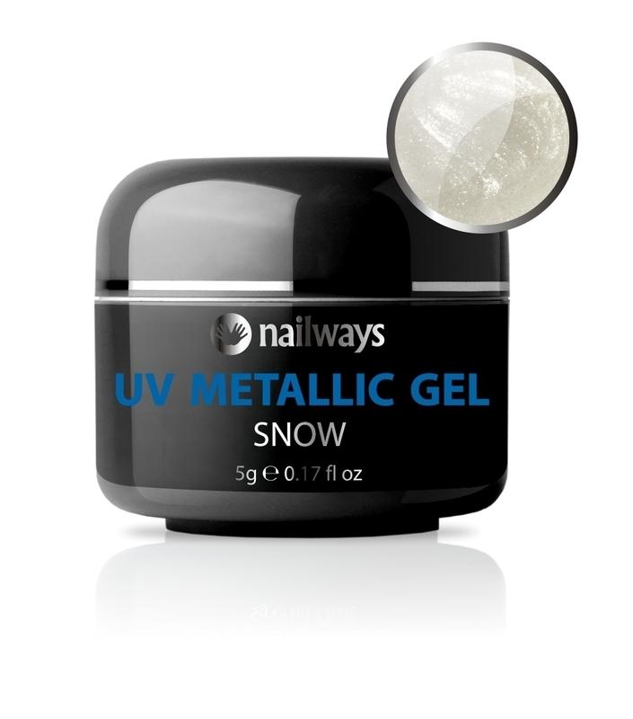 UV METALLIC GEL - Snow