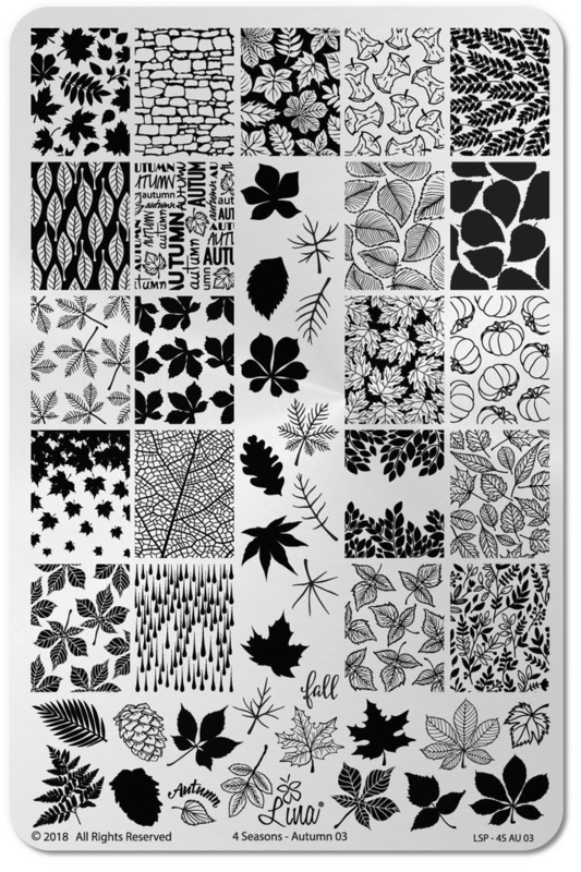 Lina - Stamping Plate - 4 Seasons - Autumn 03