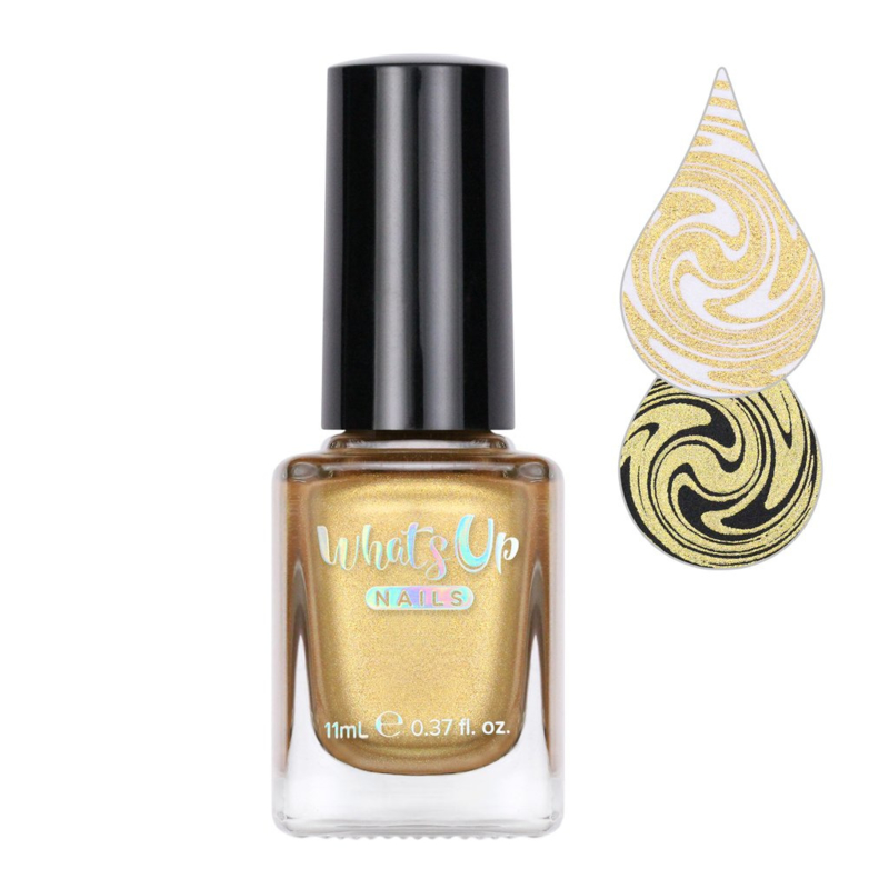 Whats Up Nails - Stamping polish - WSP004 - Go for Gild