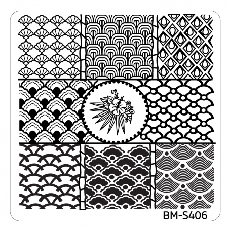 Bundle Monster - Hangloose Nail Art Manicure Stamping Plate - BM-S406, Fresh Scallops
