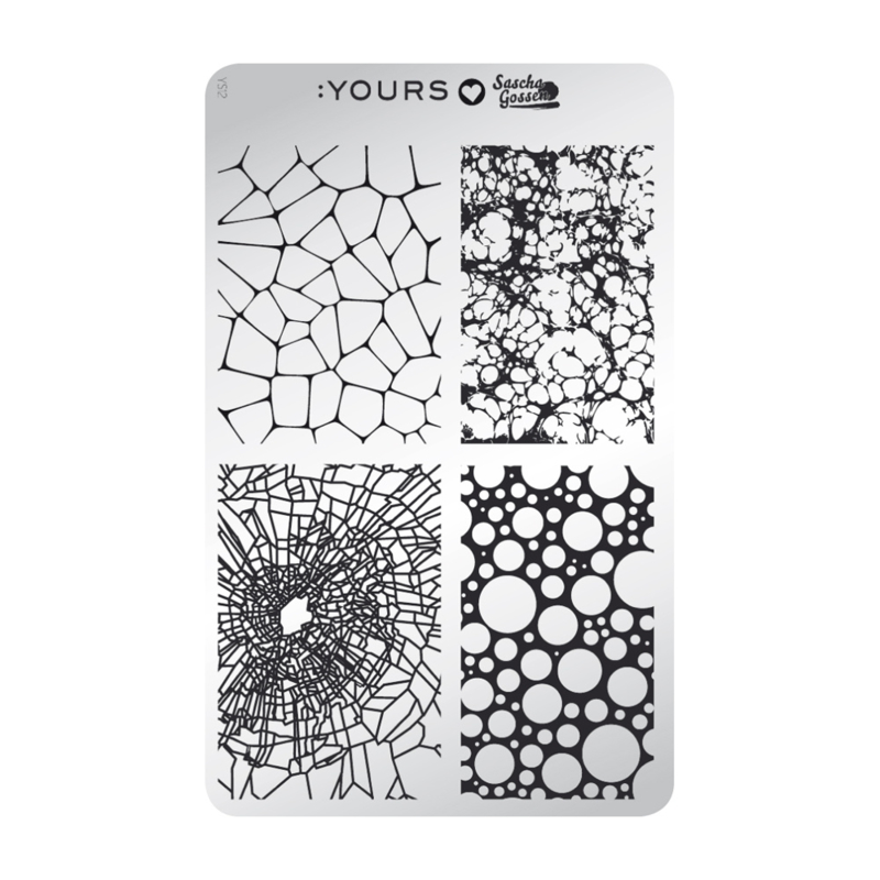 Yours Cosmetics - Stamping Plates - :YOURS Loves Sascha - YLS12. Natural Paradox