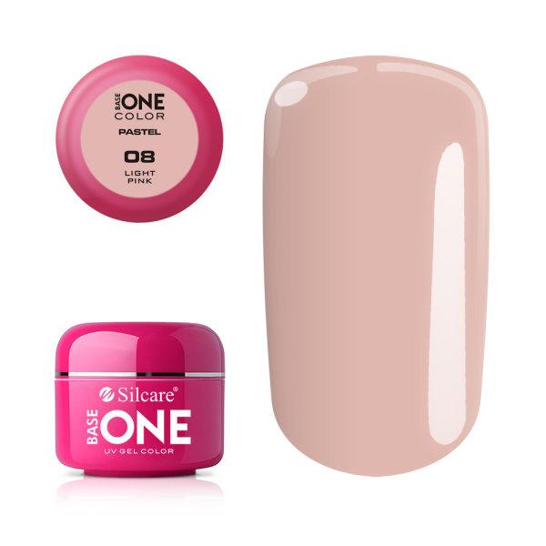 Base One - UV COLOR GEL - Pastel - 08. Light Pink