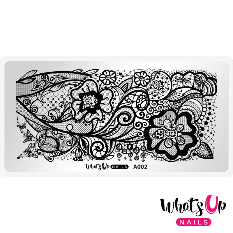 Whats Up Nails - Stamping Plate - A002 Classy and Sassy