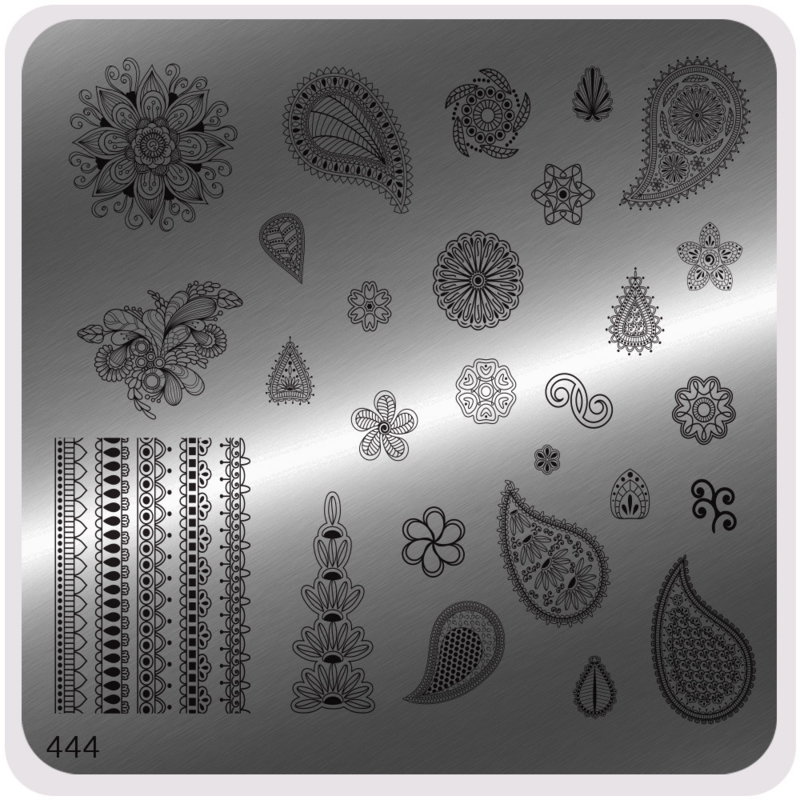 Moyou Nail Fashion - Stamping Plate - Ethnic Style - 444