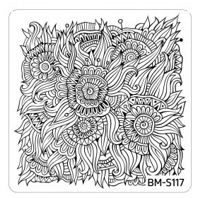 Bundle Monster - Paisley Flow Nail Art Manicure Stamping Plate - Aqua Fields