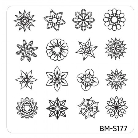 Bundle Monster - Mystic Woods Nail Stamp Plate - Geometric Nature