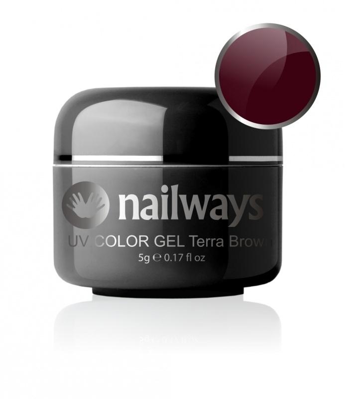 Nailways - NWUVC7 - UV COLOR GEL - Terra Brown