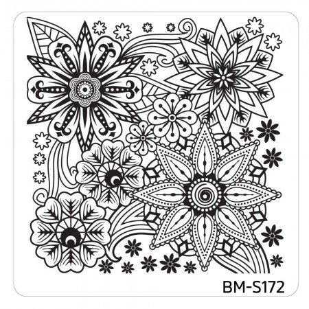 Bundle Monster - Mystic Woods Nail Stamp Plate - Floral Bomb