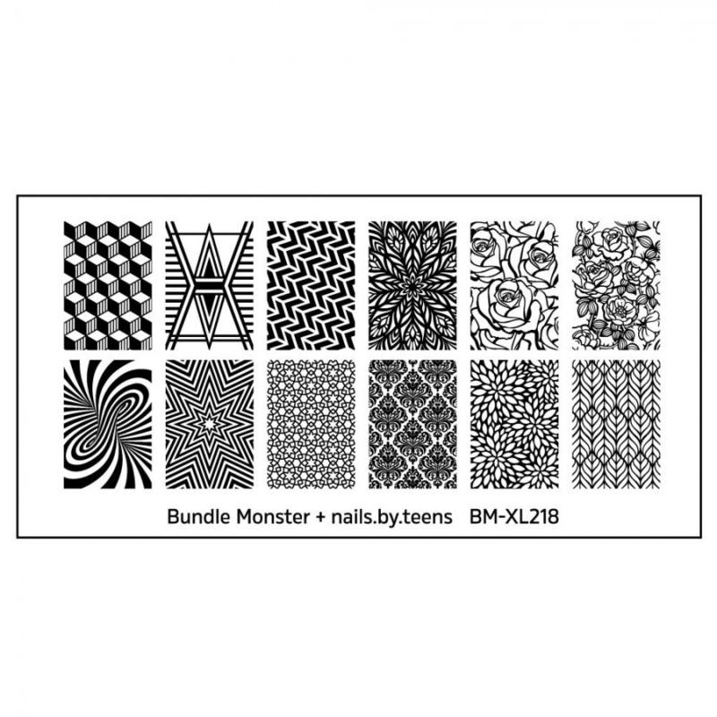 Bundle Monster - nails.by.teens Blogger Collaboration Nail Art Polish Stamping Plates - Set 4 (BM-XL218)