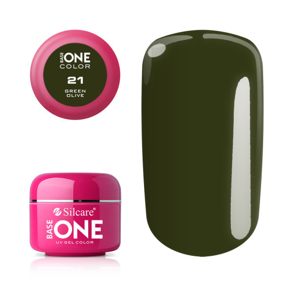 Base One - UV COLOR GEL - 21. Green Olive