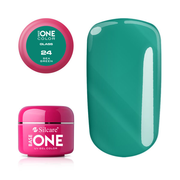 Base One - UV COLOR GEL - 24. Sea Green - Transparent