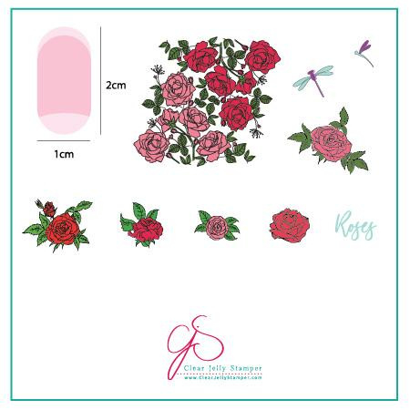 Clear Jelly Stamper - Stamping Plate - CJS_112 Painting the Roses Red