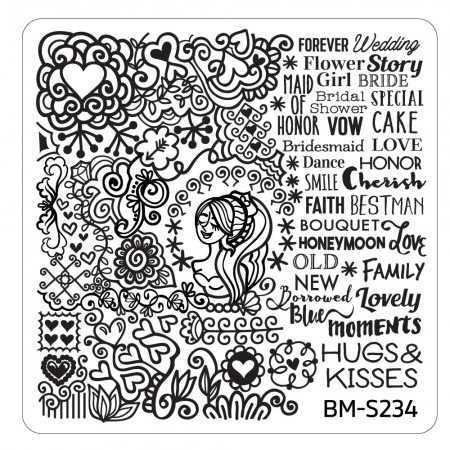 Bundle Monster - Wedding Nail Stamping Plate - Occasion Collection, Bridal Bliss