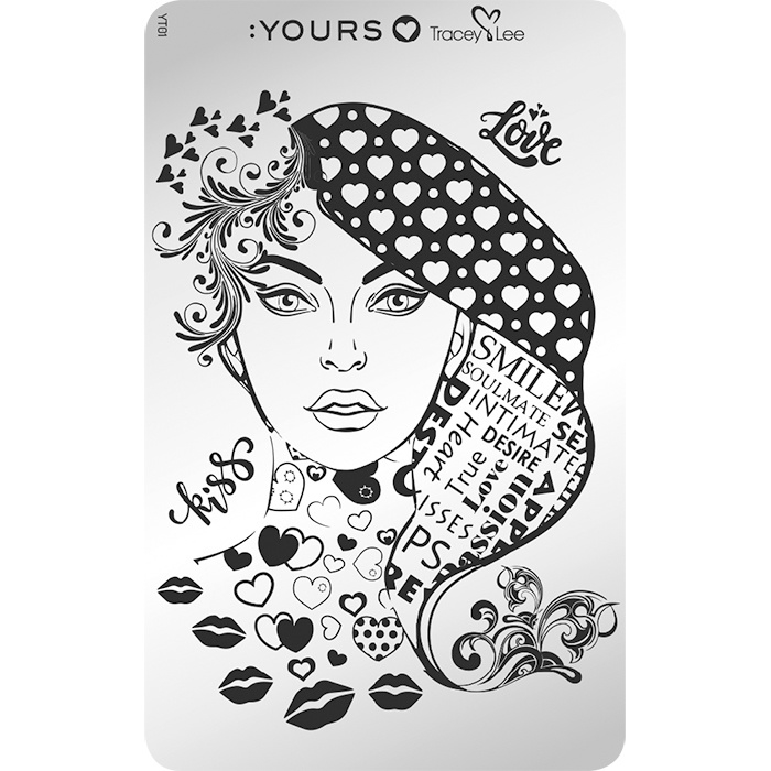 Yours Cosmetics - Stamping Plates - :YOURS Loves Tracy Lee - YLT01. Face Facts