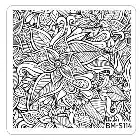 Bundle Monster - Paisley Flow Nail Art Manicure Stamping Plate - Flourishing Beauty
