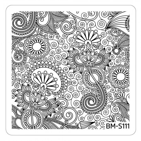 Bundle Monster - Paisley Flow Nail Art Manicure Stamping Plate - Swirls of Life