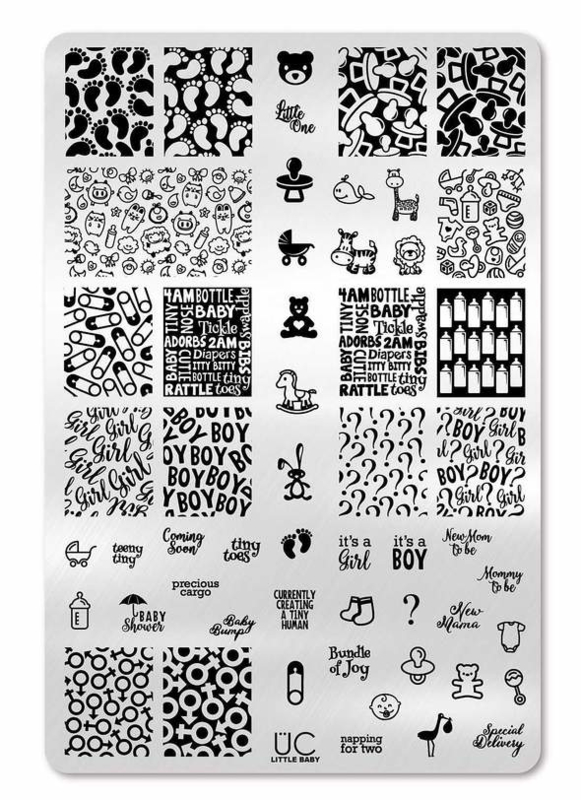 UberChic - Big Nail Stamping Plate - Little Baby