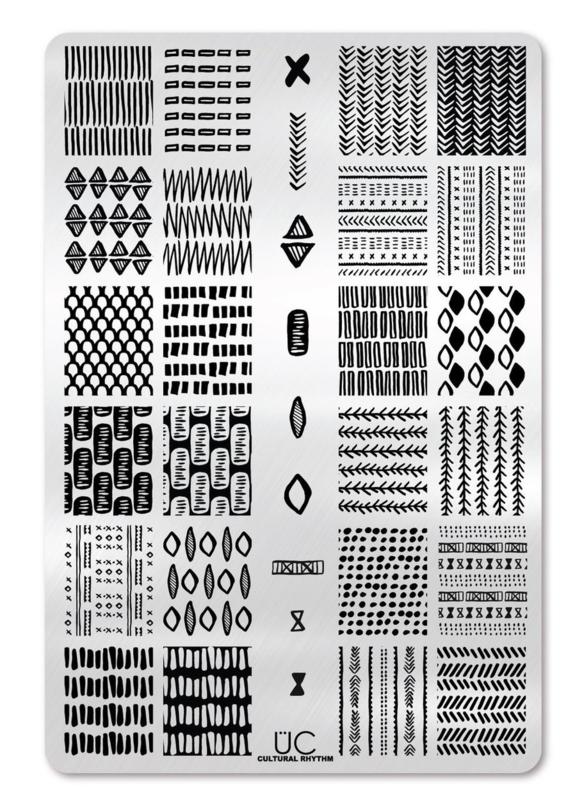 UberChic - Big Nail Stamping Plate - Cultural Rhythm