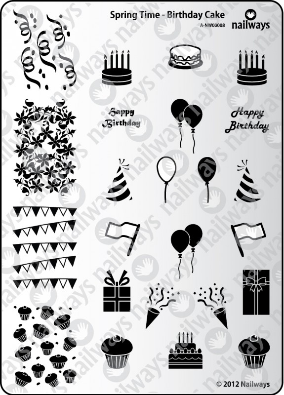 Groovy Spring Time 08 Birthday Cake Nailways Nailways Funny Birthday Cards Online Elaedamsfinfo