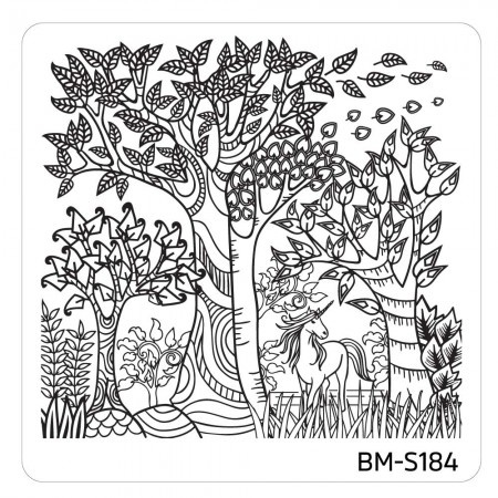 Bundle Monster - Mystic Woods Nail Stamp Plate - Unicorn's Home