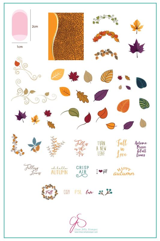 Clear Jelly Stamper - Big Stamping Plate - CJS_86 - Forever Autumn