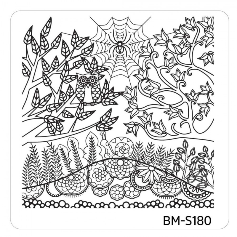 Bundle Monster - Mystic Woods Nail Stamp Plate - Do You See Me?