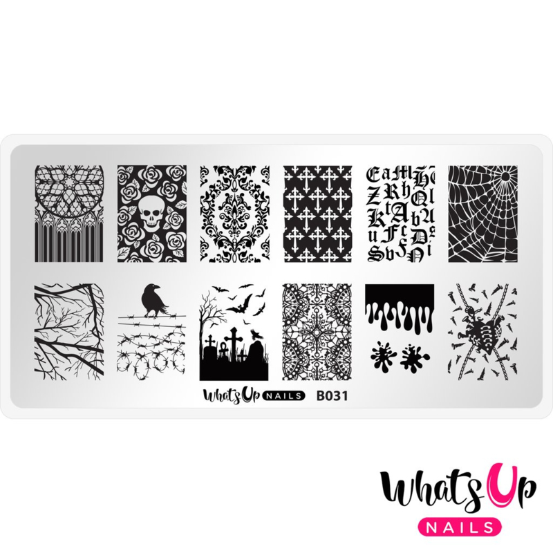 Whats Up Nails - Stamping Plate - B031 Gothic Affection