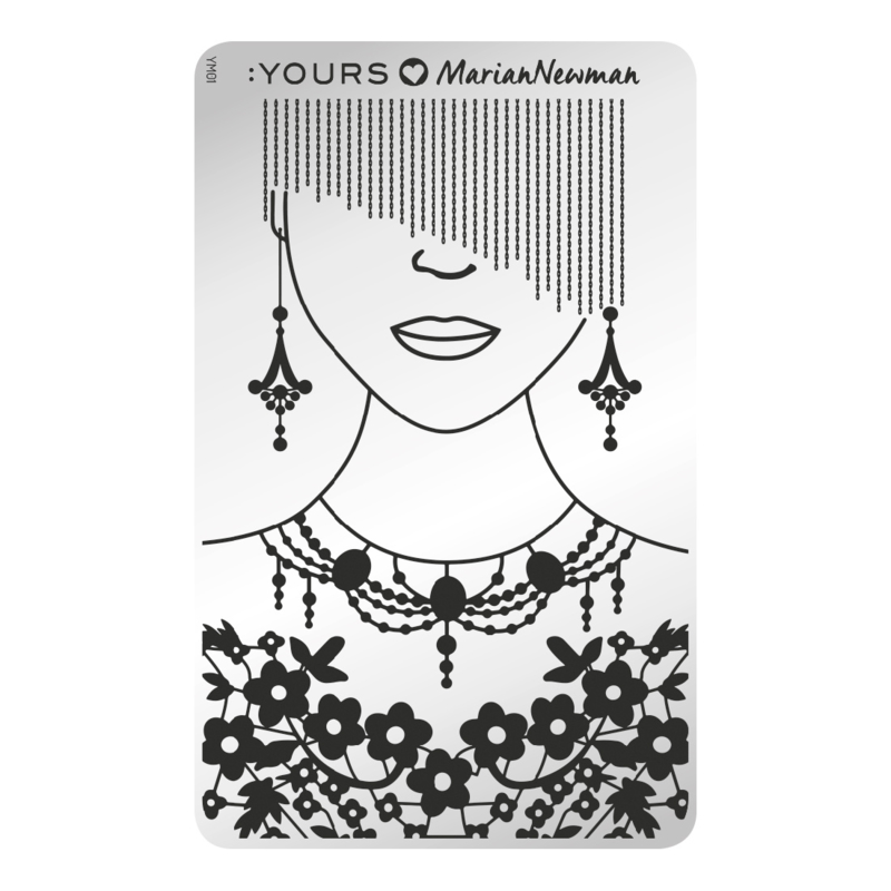 Yours Cosmetics - Stamping Plates - :YOURS Loves Marian Newman - YLM01. Mannequin