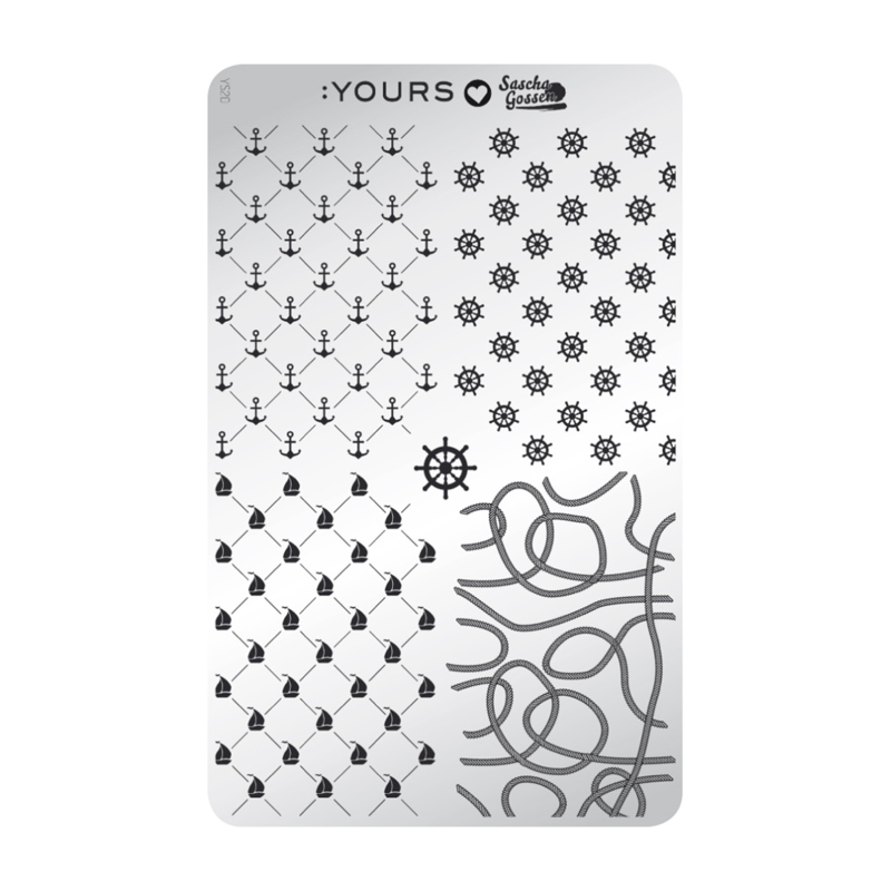 Yours Cosmetics - Stamping Plates - :YOURS Loves Sascha - YLS20. Nautical - Mile
